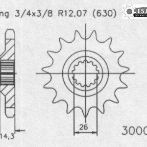 Передняя звезда Esjot 50-30004-15 (аналог JTF335.15)