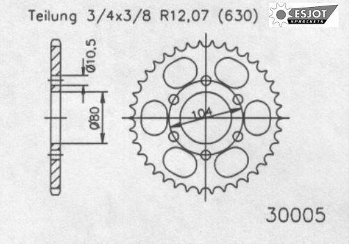Задняя звезда Esjot 50-30005-40 (аналог JTR501.40)