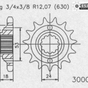 Передняя звезда Esjot 50-30006-15 (аналог JTF523.15)