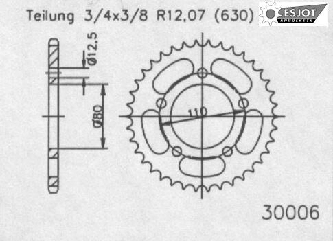 Задняя звезда Esjot 50-30006-42 (аналог JTR336.42)