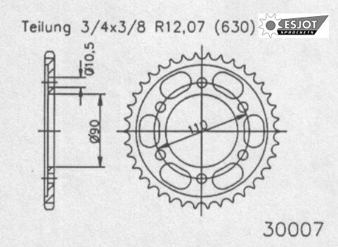 Задняя звезда Esjot 50-30007-35 (аналог JTR858.35)