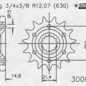 Передняя звезда Esjot 50-30008-15 (аналог JTF514.15)