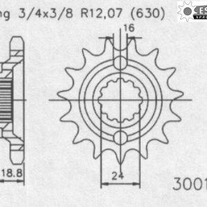Передняя звезда Esjot 50-30010-15 (аналог JTF523.15)