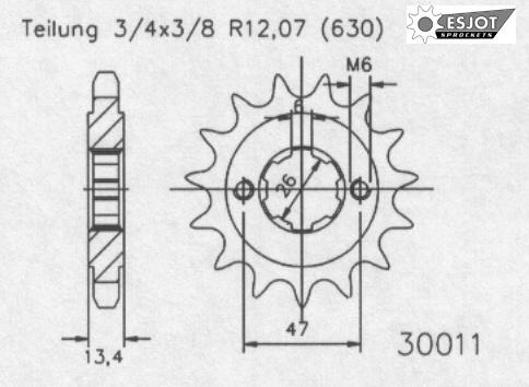 Передняя звезда Esjot 50-30011-16 (аналог JTF574.16)