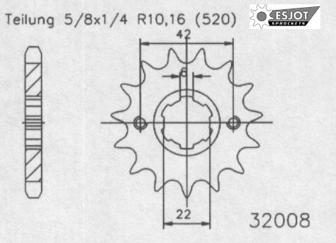 Передняя звезда Esjot 50-32008-14 (аналог JTF1265.14)