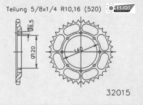 Задняя звезда Esjot 50-32015-43 (аналог JTR477.43)
