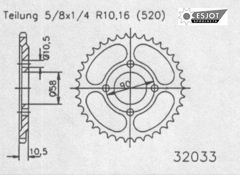 Задняя звезда Esjot 50-32033-41 (аналог JTR277.41)