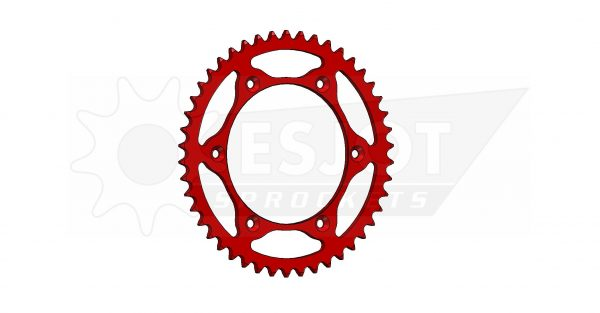 Задняя звезда Esjot 50-32043-46LR (аналог JTR822.46) Ultralight Steel / red