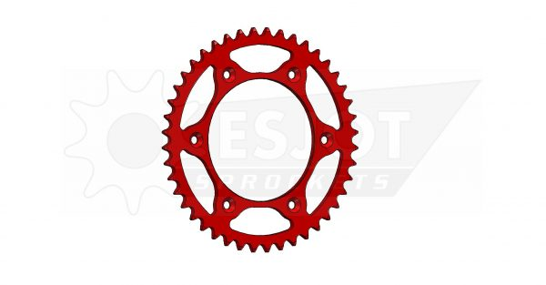 Задняя звезда Esjot 50-32045-44LR (аналог JTR301.44) Ultralight Steel / red