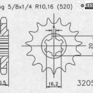 Передняя звезда Esjot 50-32057-13 (аналог JTF800.13)