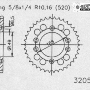 Задняя звезда Esjot 50-32058-42 (аналог JTR17.42)