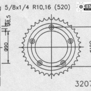 Задняя звезда Esjot 50-32074-40 (аналог JTR491.38)