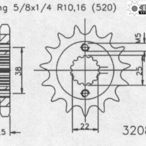 Передняя звезда Esjot 50-32080-14