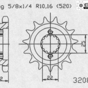 Передняя звезда Esjot 50-32084-14