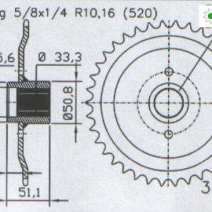 Задняя звезда Esjot 50-32101-38