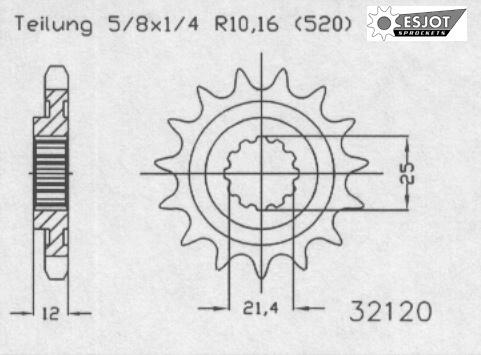 Передняя звезда Esjot 50-32120-14
