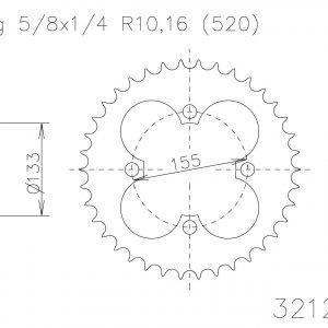 Задняя звезда Esjot 50-32129-39