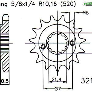 Передняя звезда Esjot 50-32149-14