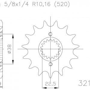 Передняя звезда Esjot 50-32152-14S (аналог JTF403.14)