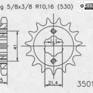 Передняя звезда Esjot 50-35019-15 (аналог JTF492.15)