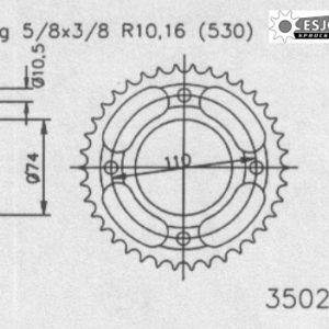 Задняя звезда Esjot 50-35027-41 (аналог JTR852.41)