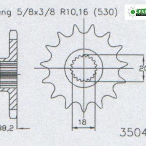 Передняя звезда Esjot 50-35047-17