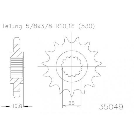 Передняя звезда Esjot 50-35049-17