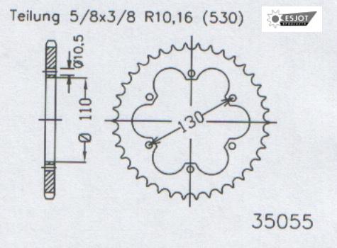 Задняя звезда Esjot 50-35055-36 (аналог JTR1421.36)
