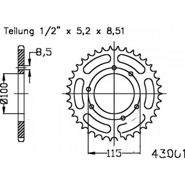 Задняя звезда Esjot 50-43001-48