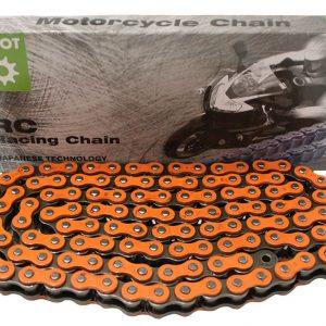 Цепь для мотоцикла ESJOT 520 RO O-Ring, 112 звеньев оранжевая, арт. 55-3284O-112 (аналог RK CHAIN 520 SO)