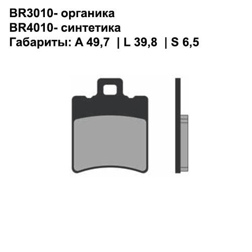 Синтетические колодки Brenta BR4010