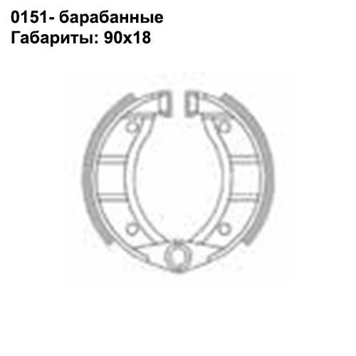 Барабанные колодки Brenta BR0151