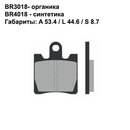 Синтетические колодки Brenta BR4018
