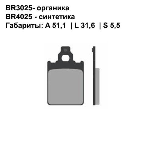 Синтетические колодки Brenta BR4025
