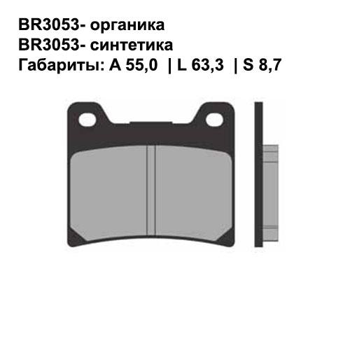 Синтетические колодки Brenta BR4053