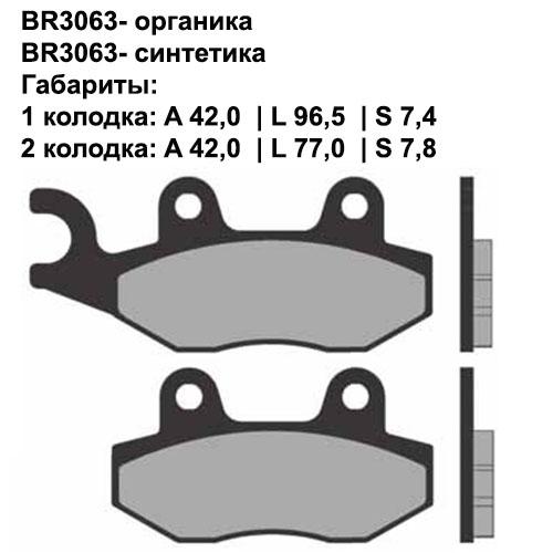 Синтетические колодки Brenta BR4063