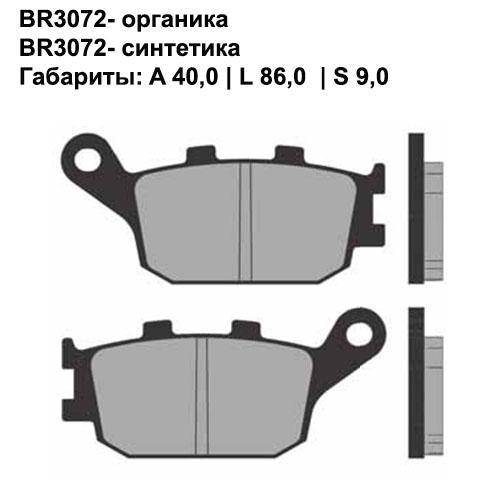 Синтетические колодки Brenta BR4072