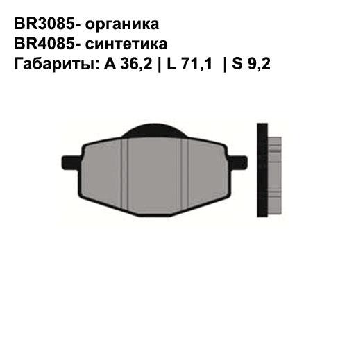 Синтетические колодки Brenta BR4085