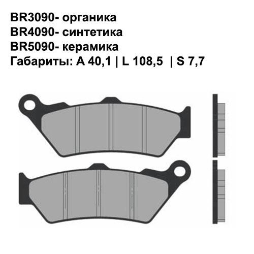 Керамические колодки Brenta BR5090
