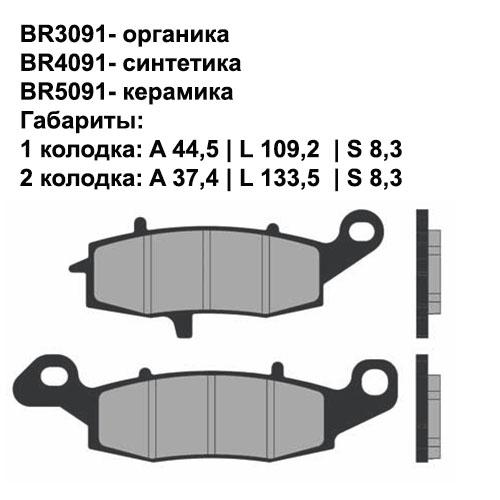 Керамические колодки Brenta BR5091