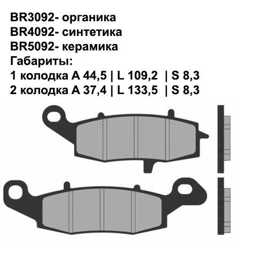 Керамические колодки Brenta BR5093