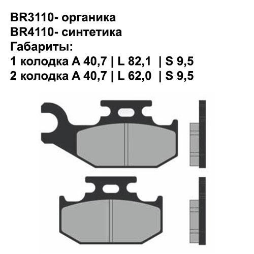 Синтетические колодки Brenta BR4110