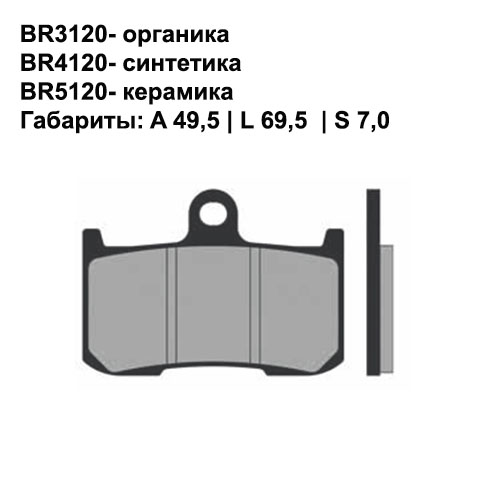 Керамические колодки Brenta BR5120