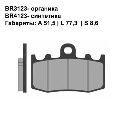 Синтетические колодки Brenta BR4123