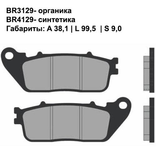 Синтетические колодки Brenta BR4129