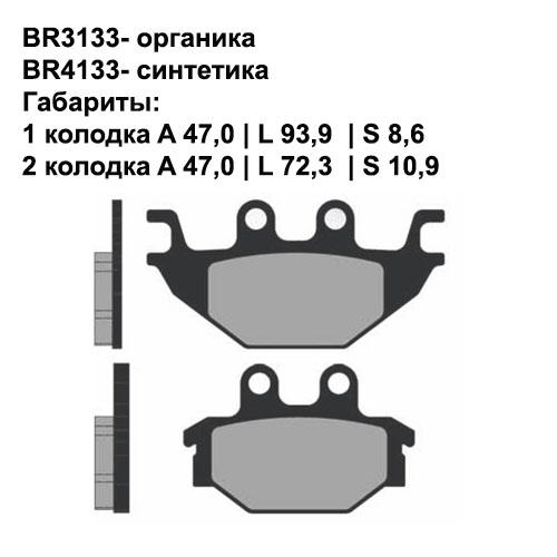Синтетические колодки Brenta BR4133