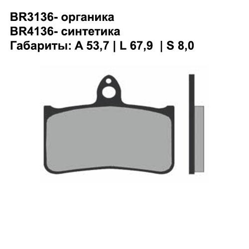 Синтетические колодки Brenta BR4136