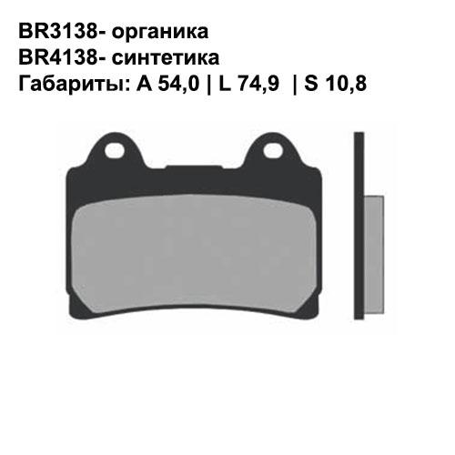 Синтетические колодки Brenta BR4138