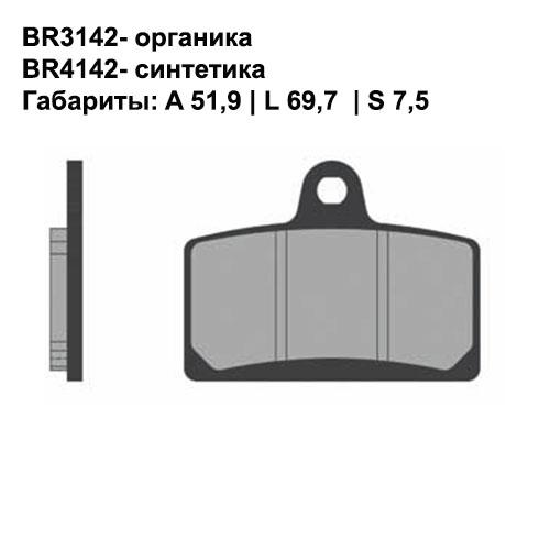 Синтетические колодки Brenta BR4142
