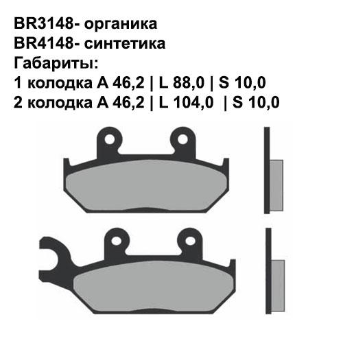 Синтетические колодки Brenta BR4148